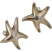 Tiffany & Co. Elsa Peretti Sterling Silver Starfish Stud Earrings