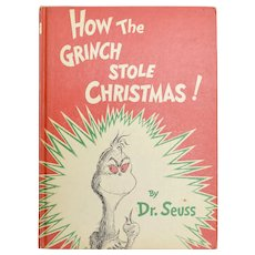 "Copyright 1957 ""How The Grinch Stole Christmas!"" First Edition Illustrated Children's Hardcover Book"