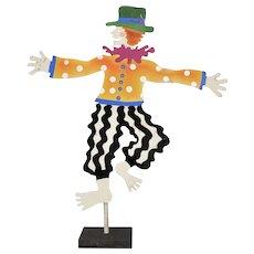 Retired Judie Bomberger Signed Cirque du Soleil Circus Die-Cut Painted Metal Folk Art Sculpture