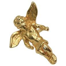 Angel/Cherub Goldtone Tie Tack/Pin