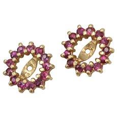 14k Gold Genuine Ruby Earring Jackets