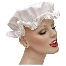 Children's White Lace Cotton Fabric Night Cap