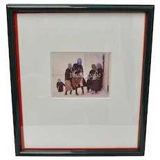 "Signed Bill Coleman ""The Itch"" Amish Girls in the Snow Photograph Artist Proof No. 288"