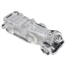 Hofbauer Crystal Glass 1930 Duesenberg Automobile Collectible Car