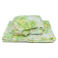 "Springmaid Wondercale Twin Set of Fresh Spring ""Yellow Daisy"" Fitted & Flat Sheet Set"