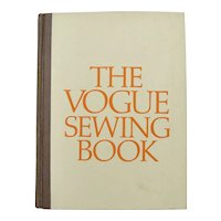 """Copyright 1970 """"The Vogue Sewing Book"""" First Edition Illustrated Hardcover Book"""