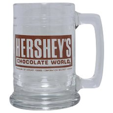 Hershey's Chocolate World Large Glass Advertising Mug