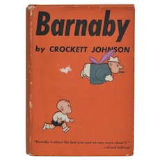Circa 1943 BARNABY Hardcover Book w/ Original Dust Jacket by Crockett Johnson