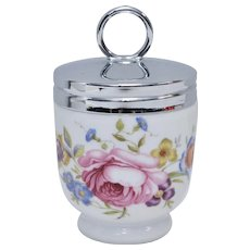 Royal Worcester Bournemouth Rose Flower Porcelain Egg Coddler