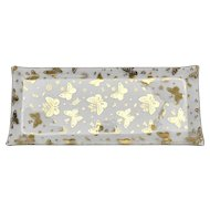 Georges Briard Large Mid-Century Modern Gold Butterfly Rectangular Glass Tray