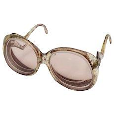 "Circa 1970s Wimbeldon ""Girl Talk"" Spattered Paint Design Ladies Glasses"