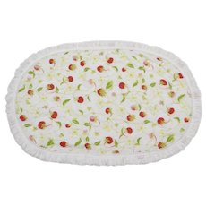 Set of 6 Handmade Strawberry Quilt Placemats