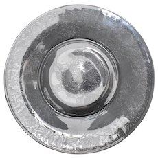 "Set of 6 Hazel Atlas Florentine Poppy #2 Clear Depression Glass 10"" Dinner Plates"