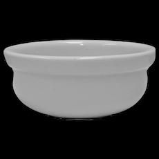 Set of 4 IDG Heavy White Ceramic Stoneware Restaurant Ware Bowls