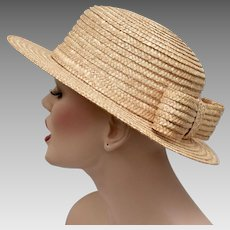 Madcaps for Vintage Abercrombie & Fitch Woven Straw Hat w/ Bow