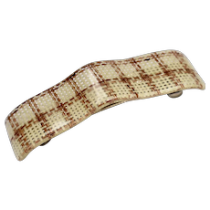 Lucite Woven Material Hair Barrette
