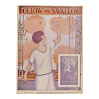 Circa 1920s 'Follow the Swallow' Sheet Music - Operatic Edition w/ Adler, Weil & Herman