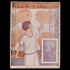 Circa 1920s 'Follow the Swallow' Sheet Music - Operatic Edition w/ Adler, Weil & Herman