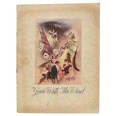 Circa 1939 'Gone With The Wind' Original Movie Program