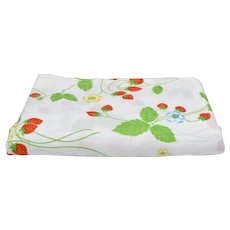 Cannon Monticello No Iron Percale Strawberry Field Twin Sheet