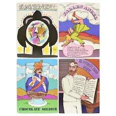 Circa 1960s Unicorn Creations, INC. Oversized Art Print Postcards