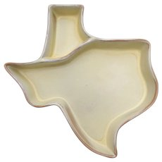 Frankoma Desert Gold TEXAS Chip/Veggie Dip Ceramic Pottery Home Kitchen Party Display