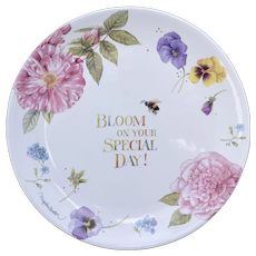 "Hallmark Nature's Sketchbook ""Bloom On Your Special Day"" Special Occasion Cake Plate by Marjolein Bastin"