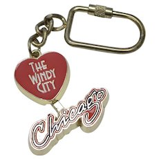 """The Windy City"" Chicago Large Enamel 3D Mechanical Destination Souvenir Travel Keychain"