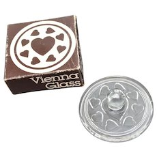 """Vienna Glass"" Hearts Glass Cookie Stamp"