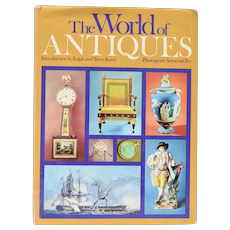 "c1970 ""The World of Antiques"" Introduction by Ralph & Terry Kovel Hardcover Book w/ DJ"