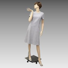 """Signed """"Hob-Nobber Naturally"""" Multi-colored Gray Short Sleeve Day Dress - Size 12"""