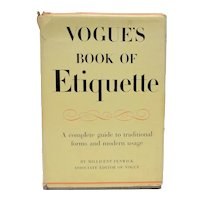 """c1948 """"Vogue's Book of Etiquette"""" Hardcover Book by Millicent Fenwick"""