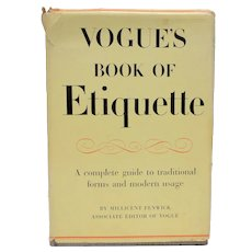 "c1948 ""Vogue's Book of Etiquette"" Hardcover Book by Millicent Fenwick"