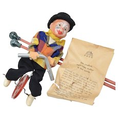"c1950 FECO ""Smallest Tight-rope Walker in The World"" Germany Made Toy"