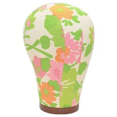 Colorful Floral Fabric Wig Stand/Hat Form