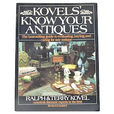 "c1981 Kovels' ""Know Your Antiques"" Softcover Resource Book by Authors Ralph & Terry Kovel"