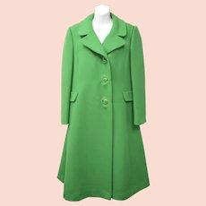 """Signed """"Rubel Originals Creators of Rich Mark""""Heavy Vibrant Green 100% Wool Coat"""