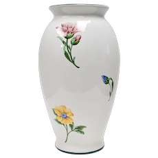 "Tiffany & Co. Sintra Pattern 9"" White Ceramic Flower Vase"