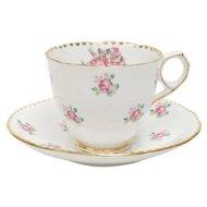 "Royal Stafford ""Tudor Rose"" England Porcelain Bone China Cup & Saucer"