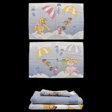 3-Pc Martex The Muppets Balloon Race Twin Fitted, Flat Sheet Set w/ Pillowcase