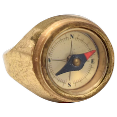 Working Compass Ring - Size 7 1/2