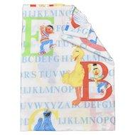 J.P. Stevens & Co. Sesame Street Alphabet ABC Letters Educational Learning Children's Twin Flat Sheet
