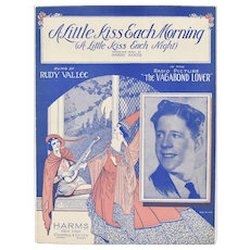 """c1929 """"A Little Kiss Each Morning (A Little Kiss Each Night)"""" Music Sheet - From Radio Picture The Vagabond Lover"""
