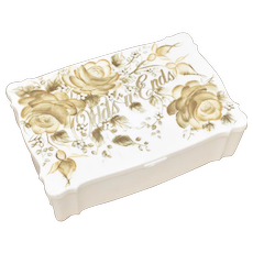 'Odds n' Ends' Hand Painted Vanity Celluloid Storage Box by 'Bits O'Glamour' Sally Gould Los Angeles