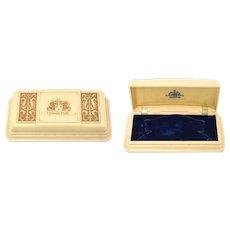Art Deco Hamilton Signed Celluloid Watch Presentation Jewelry Box