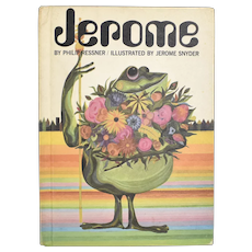"""c1967 """"Jerome"""" Psychedelic Frog Illustrated Children's Hardcover Book"""
