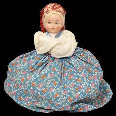 c1973 Russian Samovar Folk Art Doll Teapot Cozy w/ Original Tag