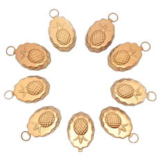 Copper Clad Miniature Pineapple Hanging Jello/Dessert Molds - 9 Available - Perfect for Dollhouse or Crafts!