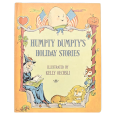 """c1973 """"Humpty Dumpty's Holiday Stories"""" Illustrated Children's Hardcover Book"""