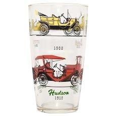 Hazel Atlas Bar Glass Shaker c1900s Style Cars Studebaker, Stutz, Ford, Chevy, Hudson - 2 Available